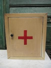 Oud brocante metalen medicijn kastje