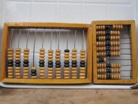 Antieke houten telraam/abacus middel