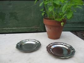 Brocante plat rond geschulpt schaaltje