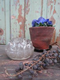 Brocante glazen bloemensteker