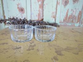 Leuk oud glazen schaaltje
