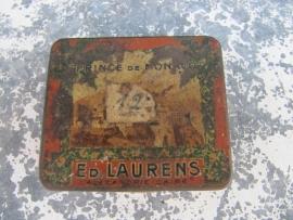 """Oud metalen sigaretten blikje van Ed. Laurens """"Prince de Monaco"""""""