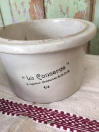 Antieke Franse conservenpot