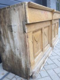 Antieke houten toonbank