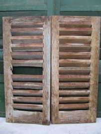 Oude Franse luikjes set van 2 stuks