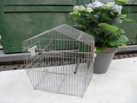 Frans brocante metalen vogelkooitje
