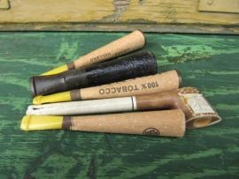 Set oude sigarettenpijpjes