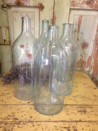 Old bottle with small neck clear