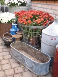 Franse ovale gietijzeren bloembak
