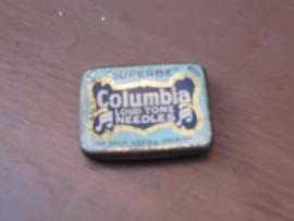 Brocant blikje van Columbia grammofoonnaalden