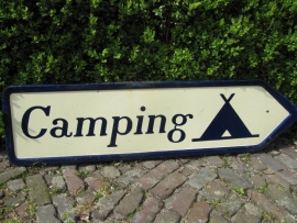 "Frans oud bord ""Camping"""