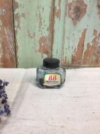 Oud glazen inktpotje