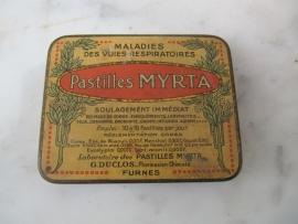 Oud blikje Pastilles Myrta