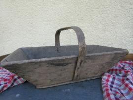Brocante houten (pluk) bak