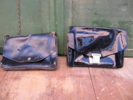 Brocante genuine leather payment / geldtas