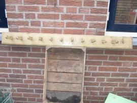 Brocante houten kapstok