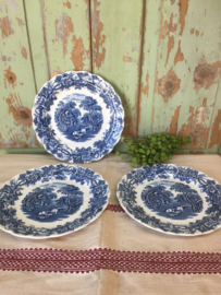 Set van 3 oude Engelse borden