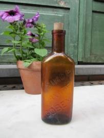 Antieke Franse medicijn fles Sirop de Laxatif Gobey