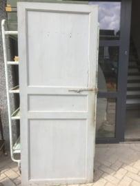 Antieke Franse houten deur grijs