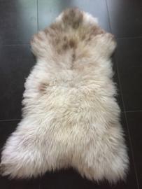 Groot schapenvacht wit/lichtbont