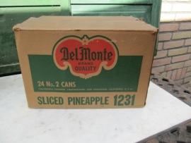Brocante oude doos van Del Monte sliced pineapple 1231