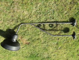 Old large iron wall lamp