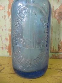Antieke spuitfles blauw