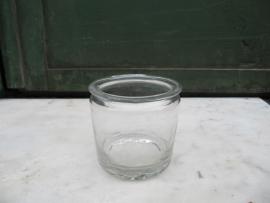 Antiek Frans glazen jampotje