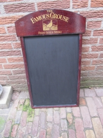 "Brocante krijtbord ""Famous Grouse"""