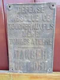Oude Franse metalen plaquette