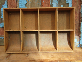 Brocante houten geldbak