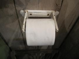 Hele oude metalen toiletrolhouder