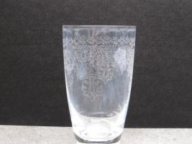 Gegraveerd waterglas