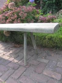 Super stevige eenvoudige groene houten bank