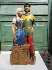 """Leuk brocante oud beeld """"Robin Hood"""""""