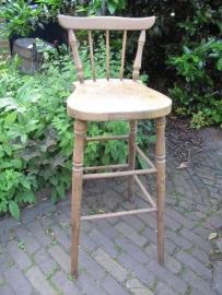 Hoge (bar) kruk/stoel met leuning