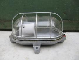 Metalen grijze kooilamp