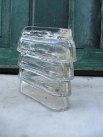 Brocante glazen kastonderzetters set van 4