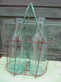 Brocante flessenrek met afgeronde hoeken