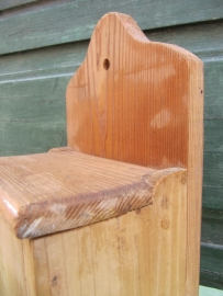 Brocante houten zoutbak