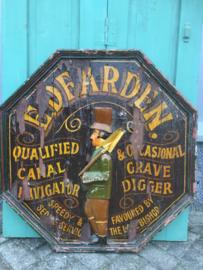 Antiek houten Engels bord