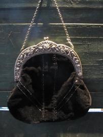 Antiek tasje met alpaca zilveren beugel
