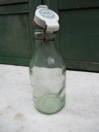 Fles L'Idéale 1 liter met zeldzame volledig porseleinen dop
