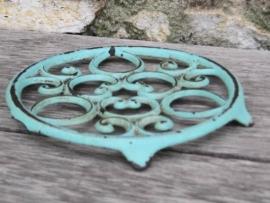 Gietijzeren treefje turquoise