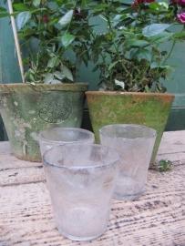 Antieke Franse theelicht glaasjes per 5 stuks