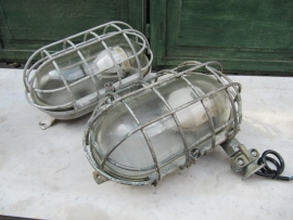 Old metal cage factory lamp XXL