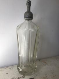 Antieke spuitfles helder glas