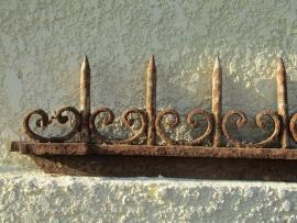 Frans antiek smeedijzeren dakranden/hekpunten/poortdeel