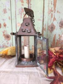 Antiek koperen lantaarntje