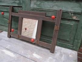 Vintage kapstok met spiegel